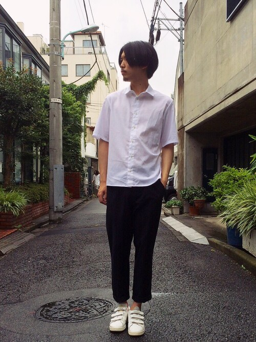 原田祥太郎さんの「Polo Ralph Lauren Slim-Fit Cotton-Seersucker Shirt(Polo Ralph Lauren)」を使ったコーディネート