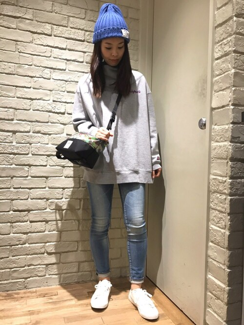 HYSTERIC GLAMOUR横浜ジョイナス店kimuさんのスニーカー「TOE プリント ローカットスニーカー(HYSTERIC GLAMOUR ヒステリックグラマー)」を使ったコーディネート