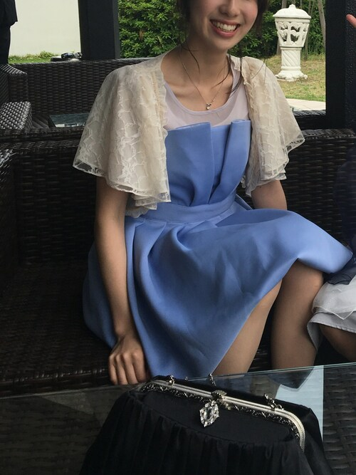 結婚式 お呼ばれ ドレス 紫