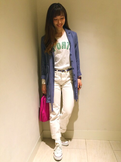 ビームス ライツ 渋谷kiji*さんのスニーカー「CONVERSE / ALL STAR HI(BEAMS BOY|ビームスボーイ)」を使ったコーディネート