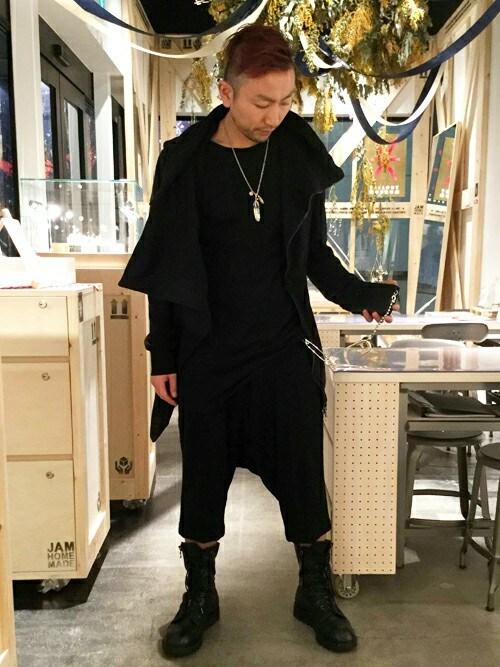 JAM HOME MADE 東京店Ryunosuke Terashiさんのネックレス「ピース プロジェクト フェザー ネックレス M/シルバー925/ペア/プレゼント(JAM HOME MADE|ジャムホームメイド)」を使ったコーディネート