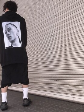 "modescape_sjkさんの「16SS ""Isolated Heroes"" Sleeveless Hoodie(RAF SIMONS)」を使ったコーディネート"
