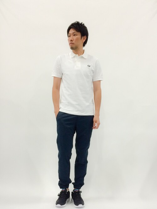 ZOZOTOWNabuさんのポロシャツ「The Original Fred Perry Shirt (Made in England)(FRED PERRY|フレッドペリー)」を使ったコーディネート