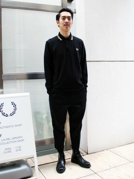 FRED PERRY SHOP TOKYO|Kentaさんの「L/S Twin Tipped Fred Perry Shirt(FRED PERRY)」を使ったコーディネート