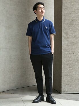 FRED PERRY SHOP TOKYO|Kentaさんの「The Original Fred Perry Shirt - M12 (Made in England)(FRED PERRY)」を使ったコーディネート