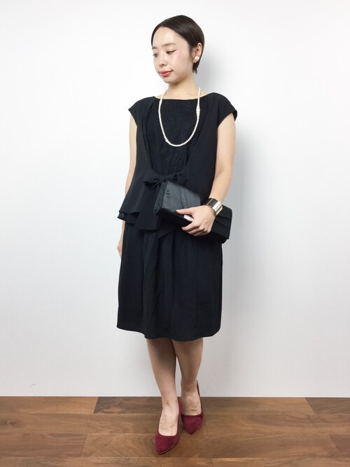 結婚式 黒ブラックドレス