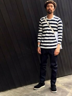 SABLE CLUTCH online order|sableclutchさんの「BORDER LONG SLEEVE TEE(SABLE CLUTCH)」を使ったコーディネート