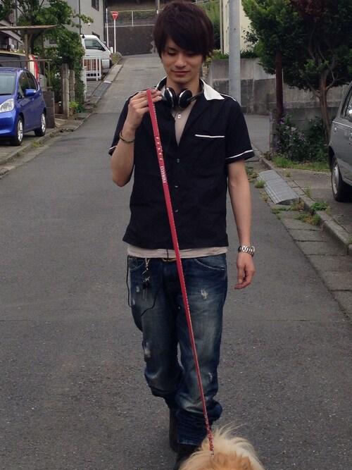 Takuyaさんのキーホルダー「レザー キーカバー キーホルダー/ブラック/黒/本革/シンプル/プレゼント(JAM HOME MADE|ジャムホームメイド)」を使ったコーディネート