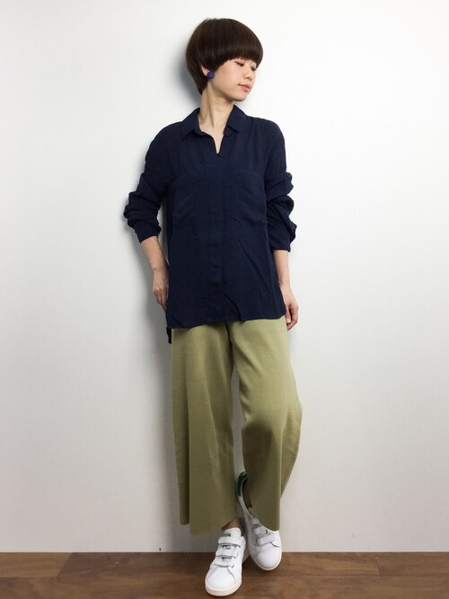yukiさんの「【bella dahl】 SPLITBACK BUTTON DOWN◆(Spick & Span)」を使ったコーディネート