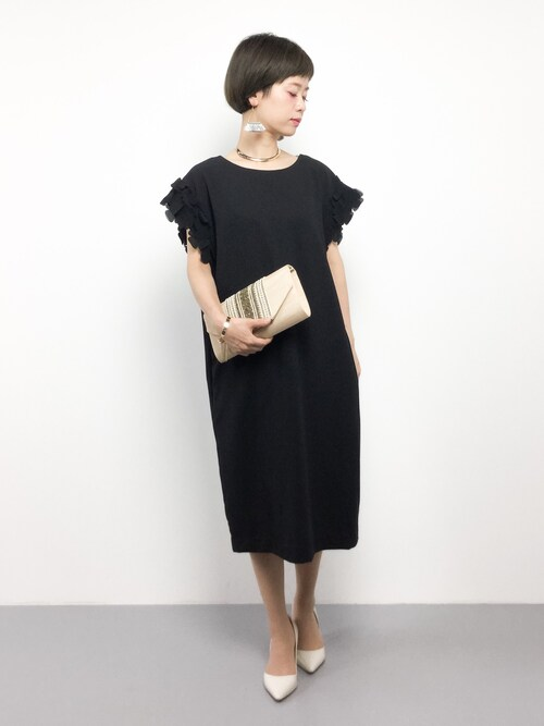 40代結婚式黒ドレス