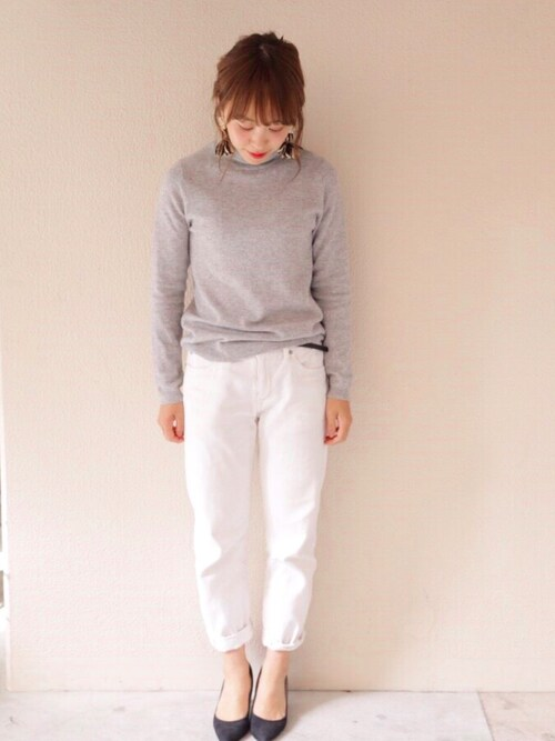 Y U K I K Oさんの「mizuiro-ind high waist white denim(URBAN RESEARCH DOORS WOMENS)」を使ったコーディネート