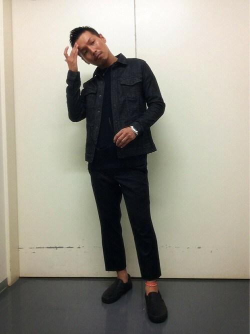 MORGAN DE TOI 有楽町yokoさんのTシャツ/カットソー「ビックワッフル(MORGAN HOMME モルガンオム)」を使ったコーディネート