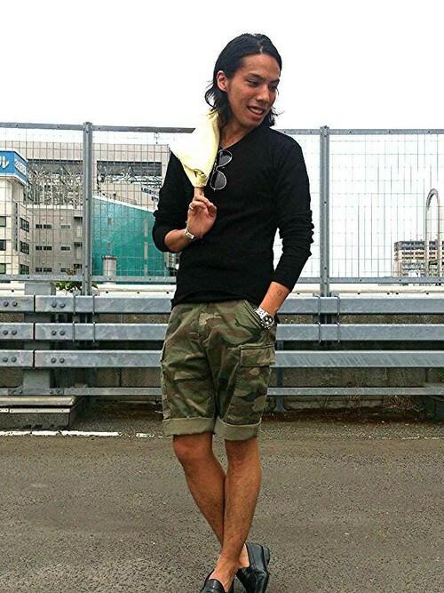 AVIREX  札幌RIKUさんのカーゴパンツ「avirex/アヴィレックス/メンズ/ BASIC CARGO SHORTS/ ベーシック カーゴショーツ(AVIREX|アヴィレックス)」を使ったコーディネート