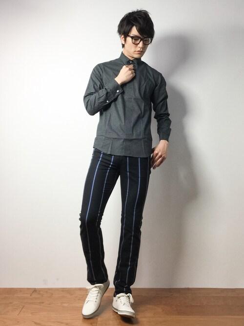 ZOZOTOWN中嶋時男さんのシャツ/ブラウス「ブロードウイングカラーシャツ RF(nano・universe|ナノユニバース)」を使ったコーディネート