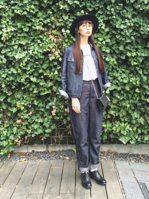 Kazumiさんのデニムジャケット「BLOUSON BRANDY /STRETCH /デニムジャケット (A.P.C.|アーペーセー)」を使ったコーディネート