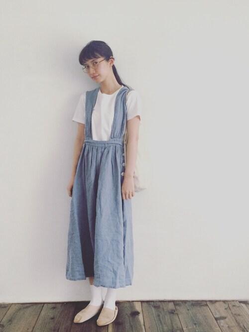 KazumiさんのTシャツ/カットソー「Hanes×SHIPS AUTHENTIC PRODUCTS: Tシャツ Japan Fit(2枚組)(SHIPS シップス)」を使ったコーディネート