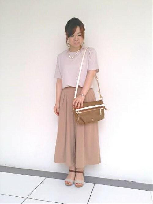 SAZABY 仙台エスパル三上 明子さんのショルダーバッグ「LNN-05/ショルダー(SAZABY|サザビー)」を使ったコーディネート