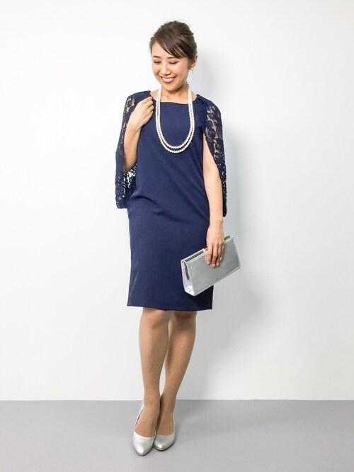 ZOZOTOWNnatsuさんのドレス「レース ドレープ ワンピース ドレス 結婚式 フォーマル パーティードレス(DRESS LAB|ドレスラボ)」を使ったコーディネート