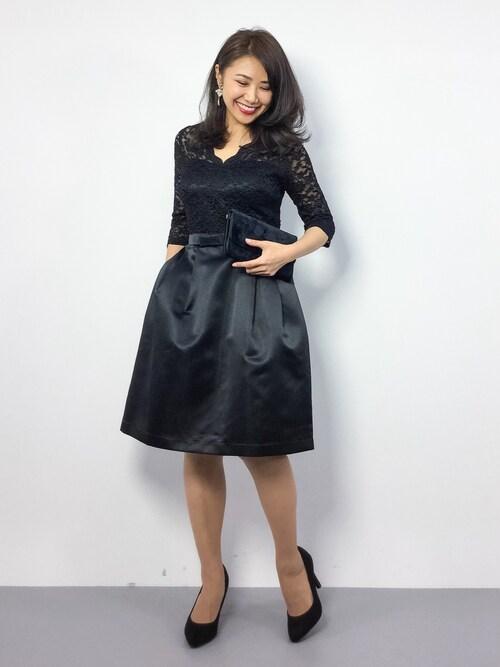 ZOZOTOWNnatsuさんのドレス「レース サテン ワンピース ドレス 結婚式 フォーマル パーティードレス(DRESS LAB|ドレスラボ)」を使ったコーディネート