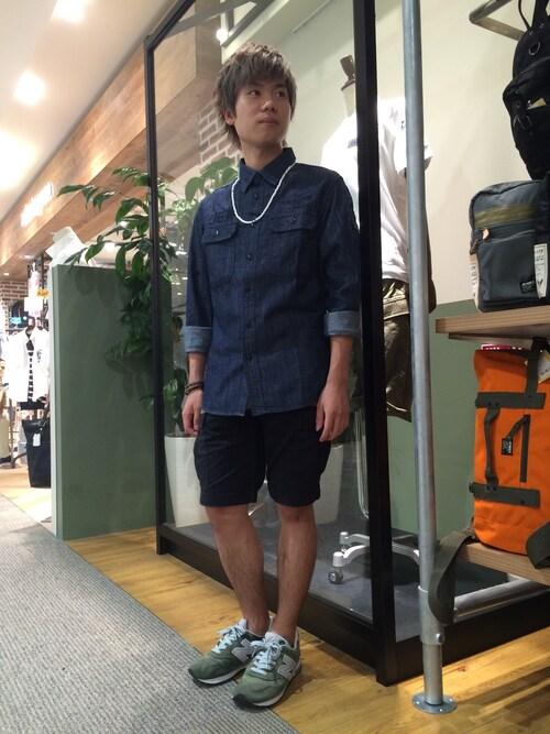 AVIREX 岡山takuroさんのカーゴパンツ「avirex/ アヴィレックス/FATIGUE  SHORTS/ファティーグショーツ(AVIREX|アヴィレックス)」を使ったコーディネート