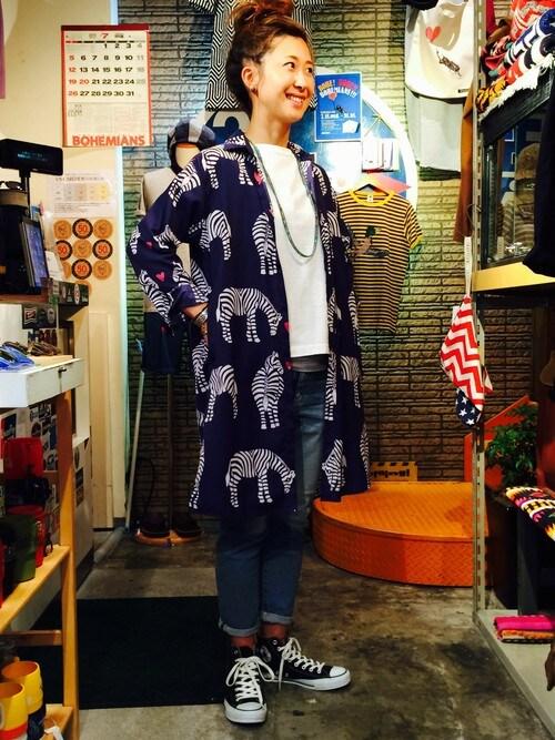BEAVER上野店 YOSHIHARUさんのデニムパンツ「D.M.G./ディーエムジー 5Pアンクルスリムストレッチデニムパンツ (175)(D.M.G.|ドミンゴ)」を使ったコーディネート