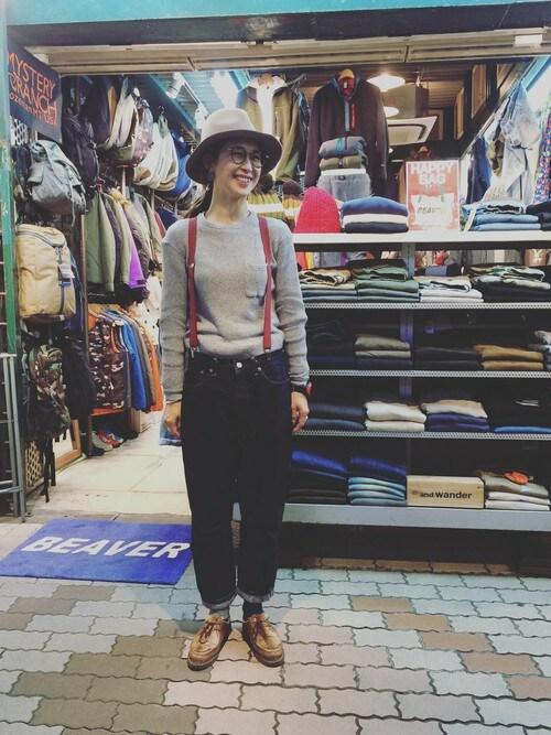 BEAVER上野店 YOSHIHARUさんのTシャツ/カットソー「MANASTASH/マナスタッシュ W'S SNUG THERMAL(MANASTASH|マナスタッシュ)」を使ったコーディネート