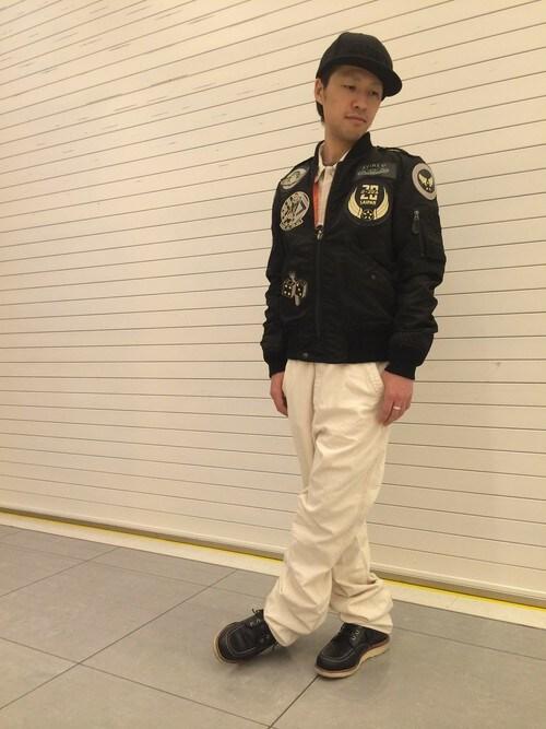 AVIREX  川崎TSUYOSHIさんのMA-1「【WEB&DEPOT限定】avirex/アヴィレックス/ L-2 TOP GUN/ L-2トップガン(AVIREX|アヴィレックス)」を使ったコーディネート
