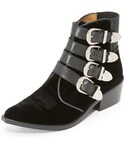 Toga Pulla | Toga Pulla Velvet Buckled Booties(ブーツ)