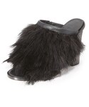 Tibi | Tibi Bee Feathered Mules(Sandals)